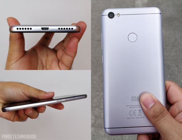 Design of the Xiaomi Redmi Note 5A Prime.