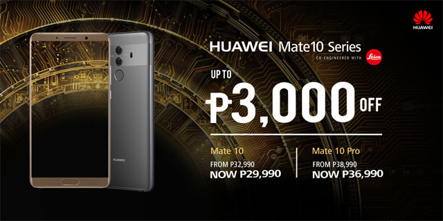 Huawei Mate 10 price drop.