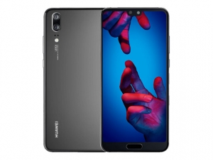 The Huawei P20 smartphone in black.