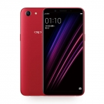 The OPPO A1 smartphone in red.