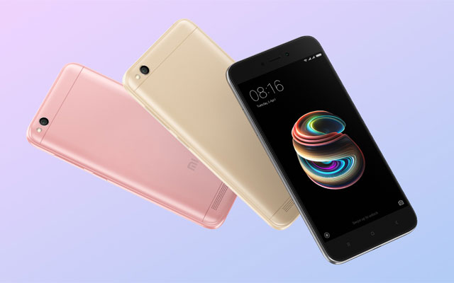 The Xiaomi Redmi 5A will be available in gold and gray.