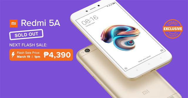 Xiaomi redmi 5a sold out in less than an hour next flash sale on xiaomi redmi 5a sold out stopboris Images
