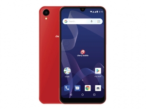 The Cherry Mobile Flare Y7 smartphone in red.
