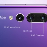 The triple Leica cameras of the Huawei P20 Pro.
