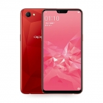 The OPPO A3 smartphone in red.