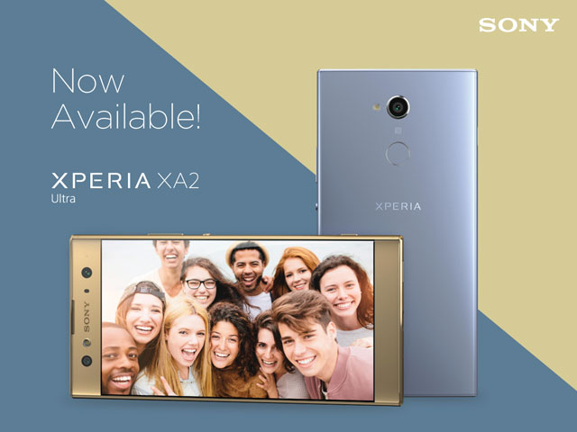 The Sony Xperia XA2 Ultra is now available.