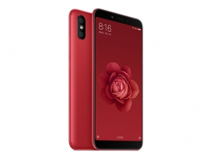 The Xaomi Mi 6X smartphone in red.
