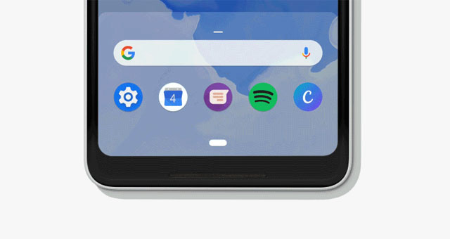 This is how the 'home button' looks like in Android P.