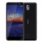 The Nokia 3.1 smartphone in black.