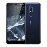 The Nokia 5.1 smartphone in blue.