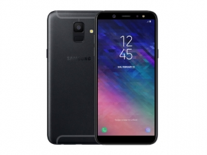 The Samsung Galaxy A6 smartphone in black.