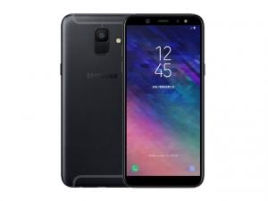 The Samsung Galaxy A6 smartphone in black.