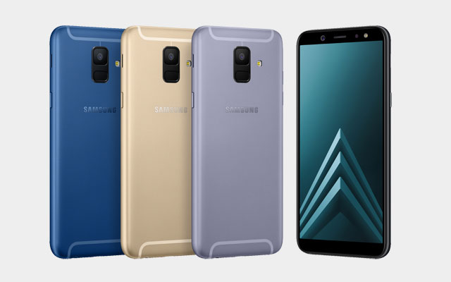 The Samsung Galaxy A6 is available in black, blue, gold and lavender colors.