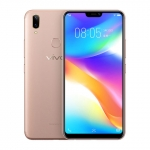 The Vivo Y85 smartphone in gold.