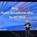 Ernest Cu announces Globe's plan to offer the first 5G home broadband offer by 2019.