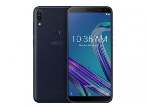 The ASUS Zenfone Max Pro M1 smartphone in black.