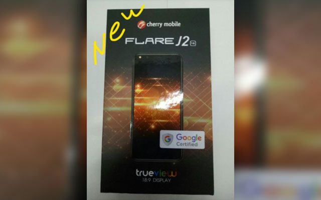 The Cherry Mobile Flare J2 2018 box.