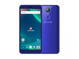 The Cherry Mobile Flare P3 smartphone in blue.