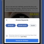 Keyword Snooze selects words and phrases to snooze in a post.
