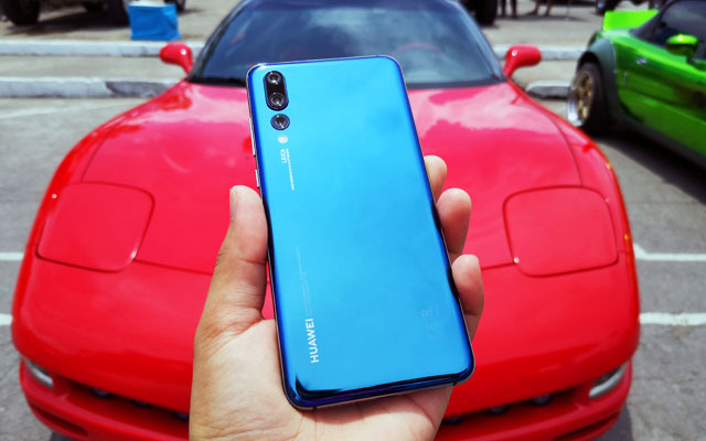 Sleek car and sleek phone...