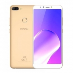 The Infinix Hot 6 Pro in gold.