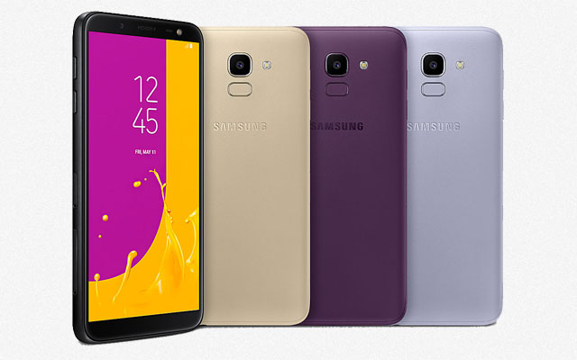 The Samsung Galaxy J6 is available in four color options.