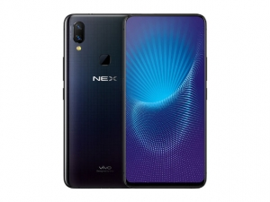 The Vivo NEX A smartphone in black.