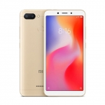 The Xiaomi Redmi 6 smartphone in gold.