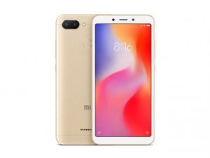 The Xiaomi Redmi 6 smartphone in gold.