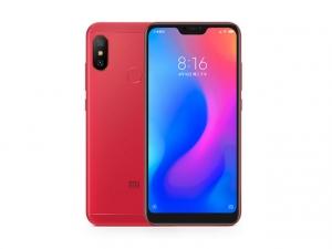 The Xiaomi Redmi 6 Pro smartphone in red.