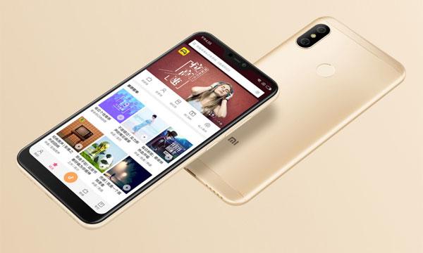 Xiaomi Redmi 6 Pro in gold.