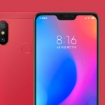 The Xiaomi Redmi 6 Pro in red.