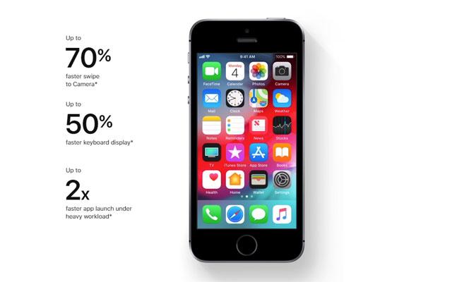 iOS 12 on an iPhone 5s.
