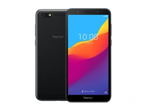 The Honor 7S smartphone in black.