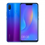 The Huawei Nova 3i smartphone in iris purple color.