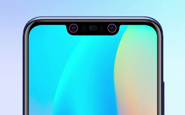 Notice the dual front cameras of the Huawei Nova 3i.