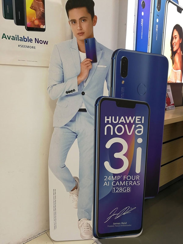 James Reid is the face of the Huawei Nova 3i.
