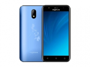 The MyPhone myA13 smartphone in blue.