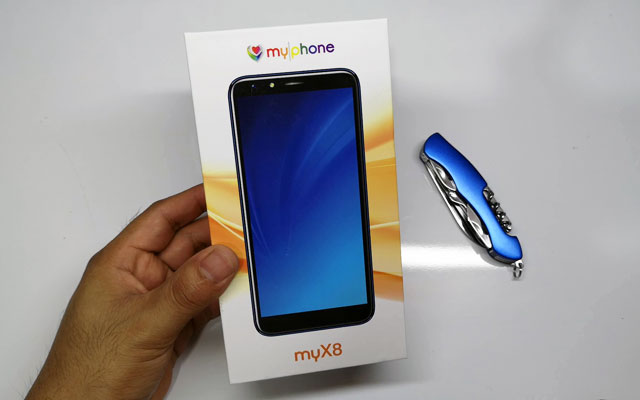 The MyPhone myX8 box.