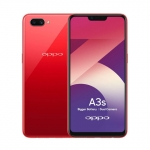 The OPPO A3s smartphone in red.