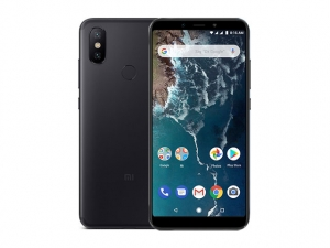The Xiaomi Mi A2 smartphone in black.