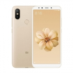 The Xiaomi Mi A2 smartphone in gold.