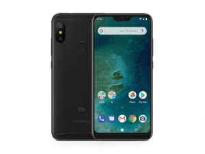 The Xiaomi Mi A2 Lite smartphone in black.