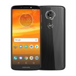 The Motorola Moto E5 Plus smartphone in black.