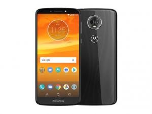 The Motorola Moto E5 Plus smartphone in black.