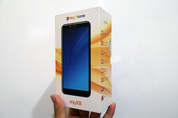 The MyPhone myX8 box.