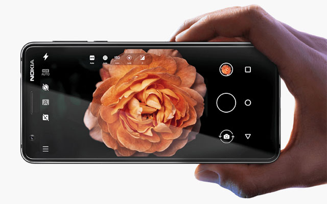 The Nokia 3.1 camera interface.