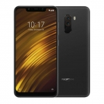 The Pocophone F1 smartphone in black.