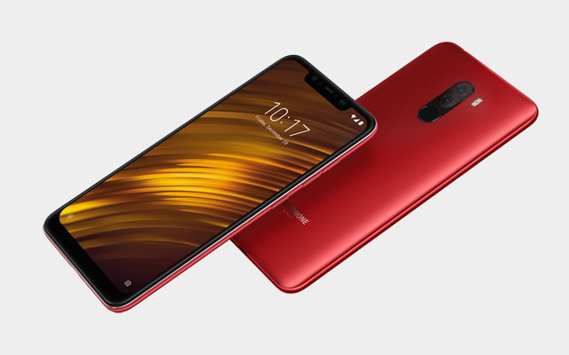 The Pocophone F1 comes in red, blue and black colors.