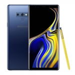 The Samsung Galaxy Note 9 smartphone in blue.